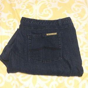 Michael Kors Dark Wash High Rise Short Skinny Jean